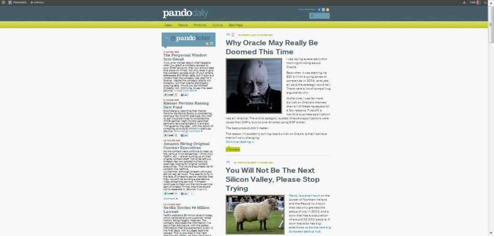 PandoDaily Only Covers Startups