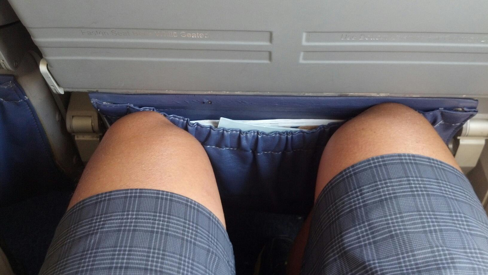 Tall People are Uncomfortable on Planes. HAHA!